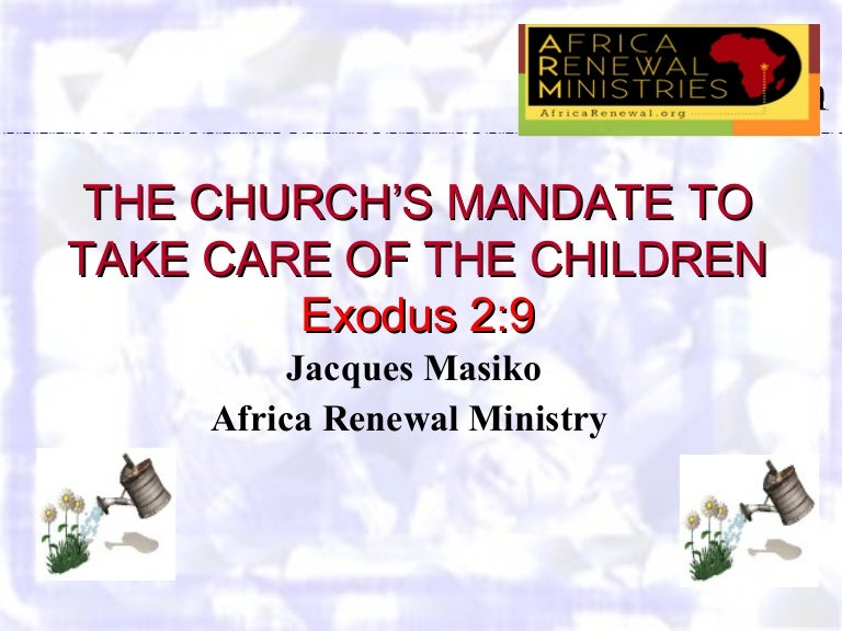 role and response of the church child advocacy the churchs mandate
