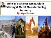 Role of Business Research in Mining & Metal industry