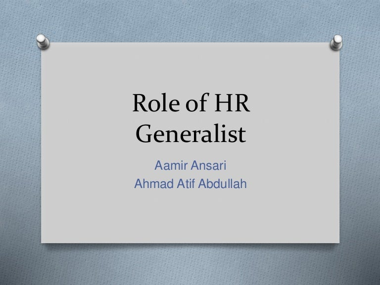 senior hr generalist sample resume