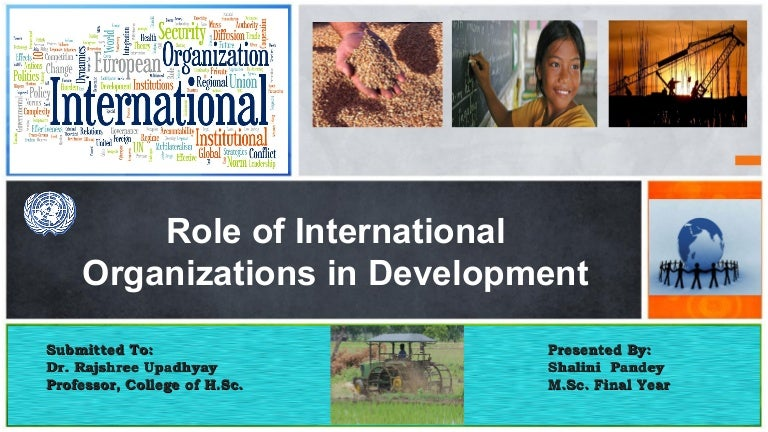 role of international organizations An intergovernmental organization or international governmental organisation (igo) is an organization composed primarily of sovereign states (referred to as member states), or of other intergovernmental organizations.
