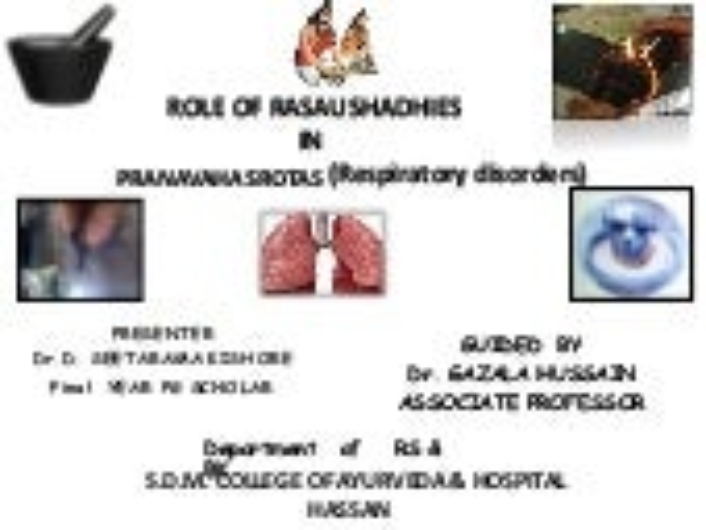 Role of rasaushadhies in respiratory disorders