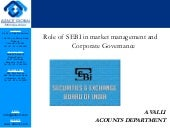 Role of sebi in market management and corporate governance