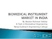 Biomedical Instrument Market in India