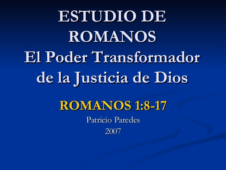 Romanos 1 8 17