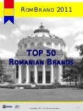 RomBrand 2011 - TOP 50 Romanian Brands