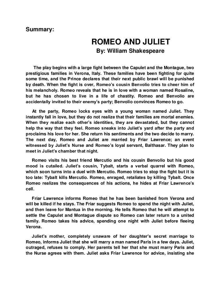act one of romeo and juliet essay Essays and criticism on william shakespeare's romeo and juliet - tradition and  subversion in romeo and juliet  act and scene summaries  the voices of  tradition and subversion are not one-sided in this play but constantly interact and .