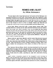 romeo and juliet research paper