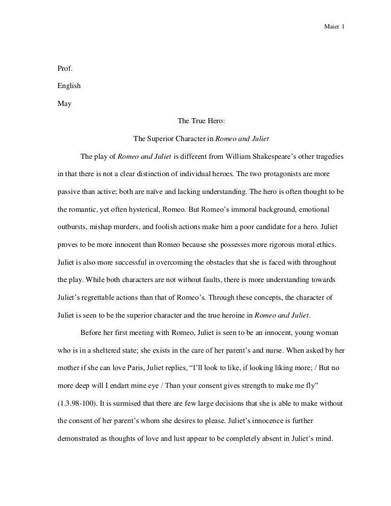 romeo and juliet haste essay