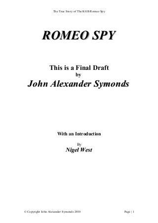 Romeo spy KGB