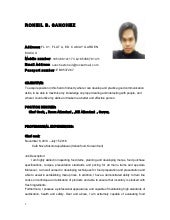 Commis Chef Cover Letter