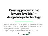 Creating products that lawyers love (sic!) – design in legal technology
