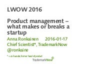 Product management – what makes or breaks a startup
