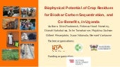 Biophysical Potential of Crop Residues for Biochar Carbon Sequestration and Co-Benefits in Uganda