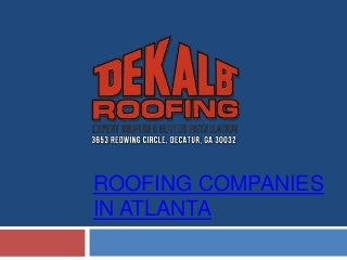 Roofing Companies in Atlanta
