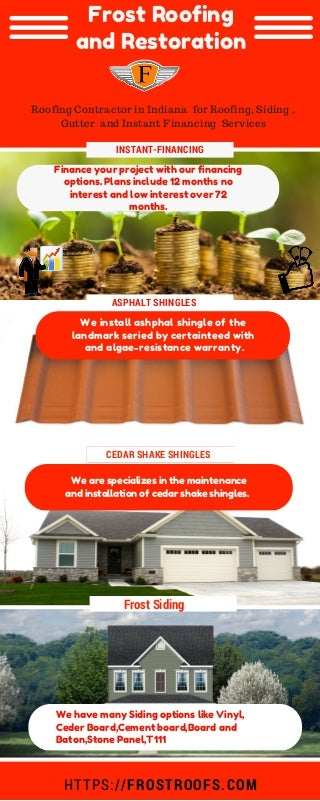 Roofing Contractor in Indiana for Roofing, Siding , Gutter and Instant Financing Services