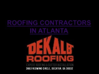 Roofing Contractors in Atlanta