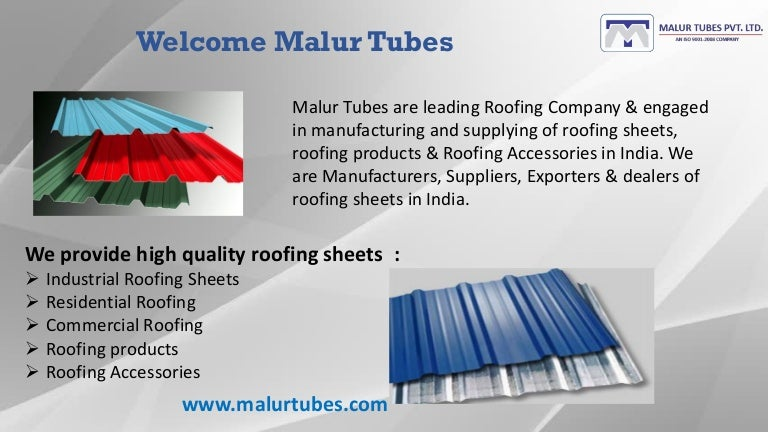 Roofing sheets, Roofing products and Roofing accessories dealers in I…