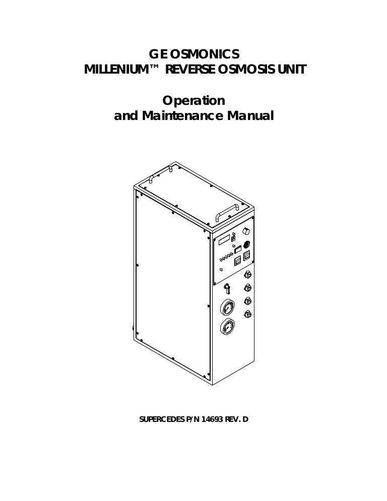 Ro Operation And Maintenance Manual
