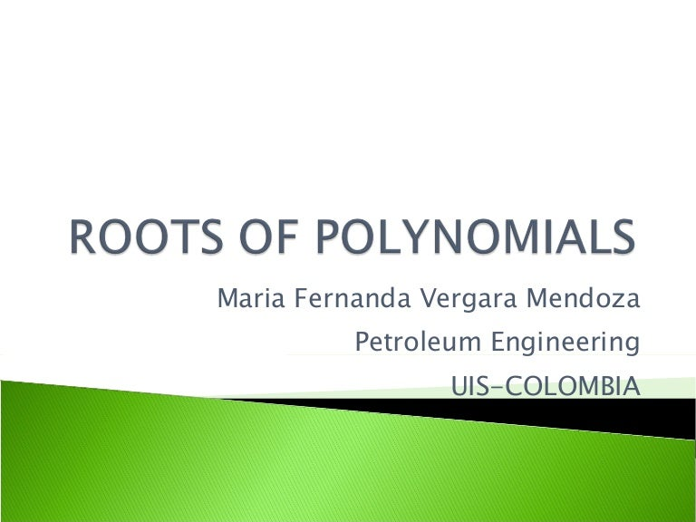 Roots of polynomials toneelgroepblik Choice Image