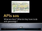APIs 101: What are they? What do they have to do with genealogy?