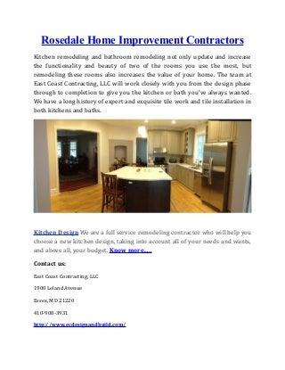 Rosedale home-improvement-contractors
