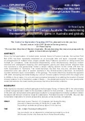 Lachlan Orogen of Eastern Australia - Ross Cayley - CET Seminar - 21st May 2015