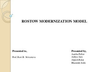 Rostow modernization model