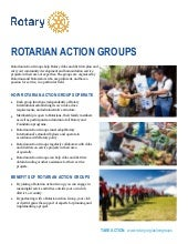 The Power of Fellowships and Rotarian Action Groups