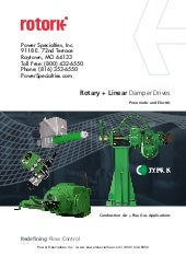 Rotary and Linear Damper Drives for Control of Combustion Air and Flue Gas