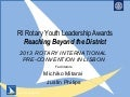 Rotary Youth Leadership Awards - RYLA (Presentation 1 of 2)