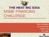 Ideas for MSME/SME financing from international models