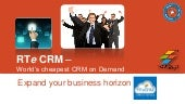 RTeCRM - World's cheapest CRM on Demand