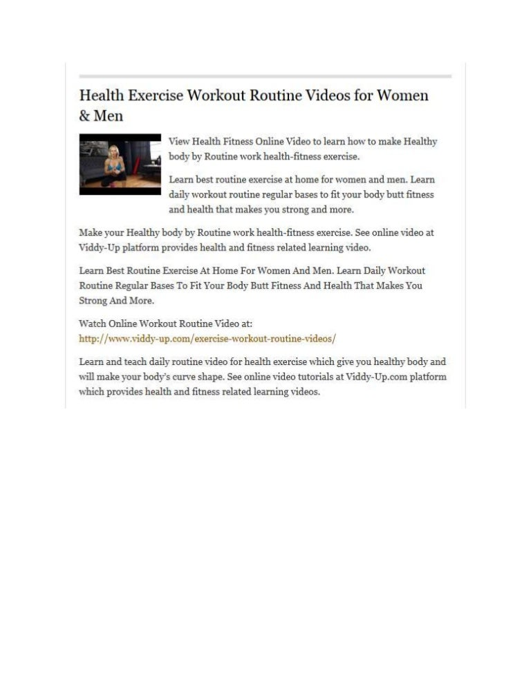 Workout Routine Women Exercise Fitness Video Clip