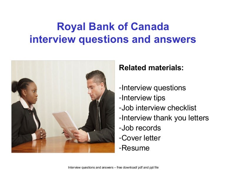 royal bank of canada interview questions and answers - Analyst Interview Tips Questions Answers