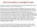 Royal commission on aboriginal people