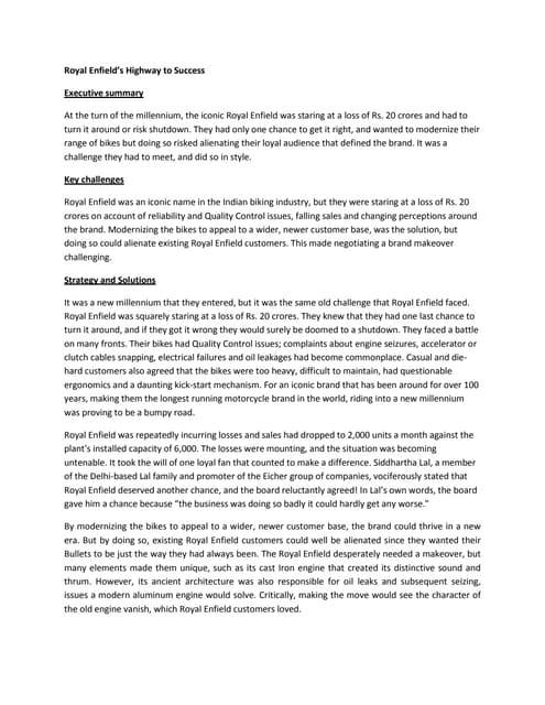Royal Enfield Branding Case Study