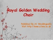 Royal Golden & White Wedding Chair – Wedding Chairs - A1 Weddingwalla