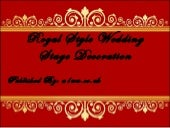 Royal Wedding Stage Decoration | Stage Decoration Ideas