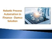 Robotic Process Automation in Finance - Damco Solution