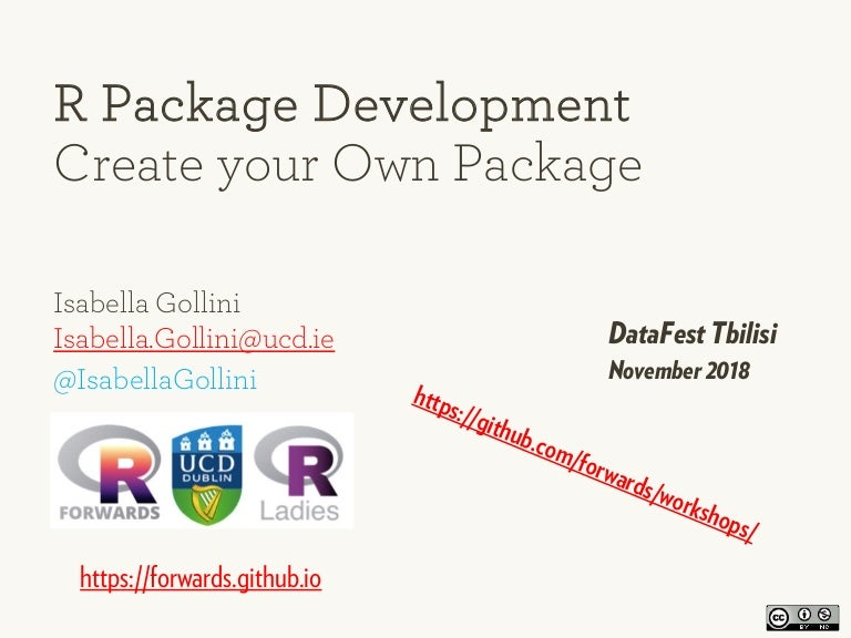R package development, create your own package isabella gollini