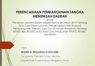 RPJMD menurut Permendagri 86 Tahun 2017