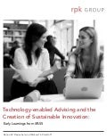 Technology-enabled Advising and the Creation of Sustainable Innovation: Early Learnings from iPASS.