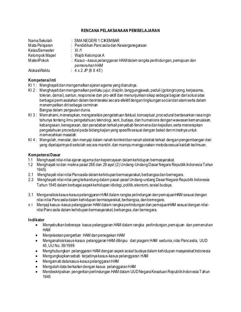Rpp Pkn Xi 1 Dan 2 Kur 2013