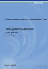 Evaluation of the Communication Aids Project (CAP) DFES (2004) Rr580