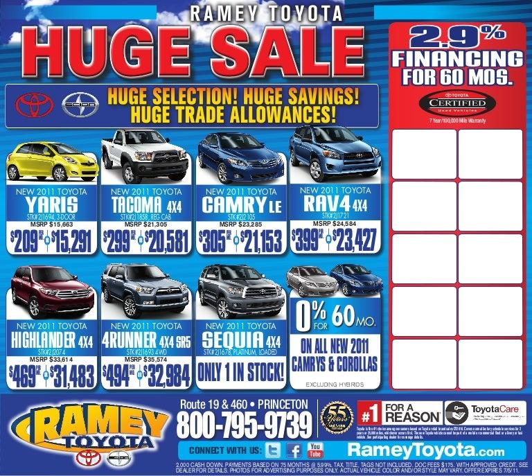 Huge Sale Ramey Toyota Princeton Wv