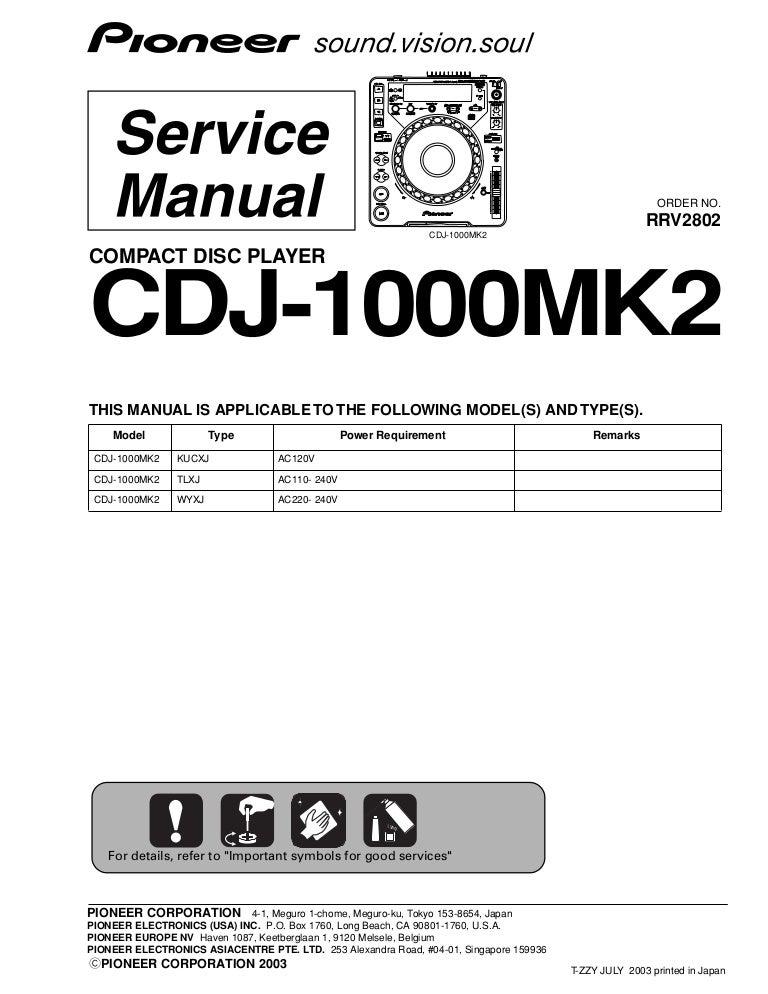 pioneer cdj 200 service manual free owners manual u2022 rh wordworksbysea com HP Owner Manuals Service ManualsOnline
