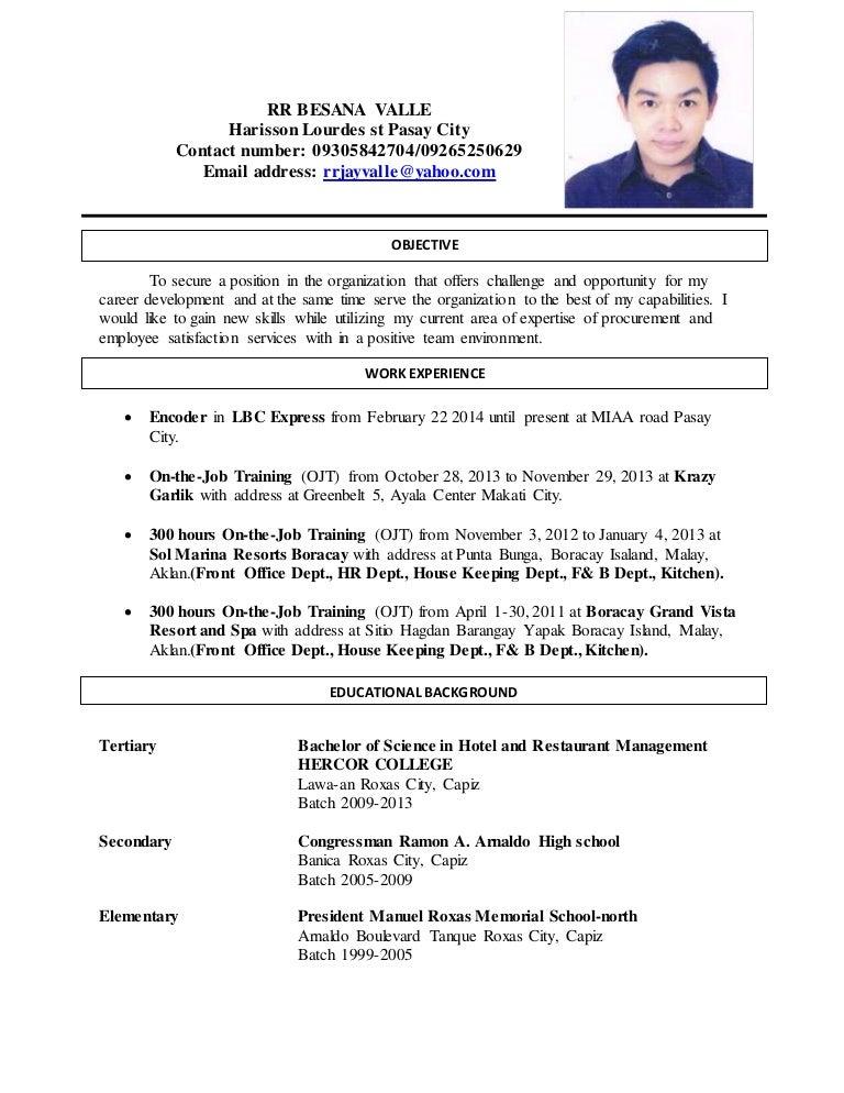 sample resume for encoder resume ideas
