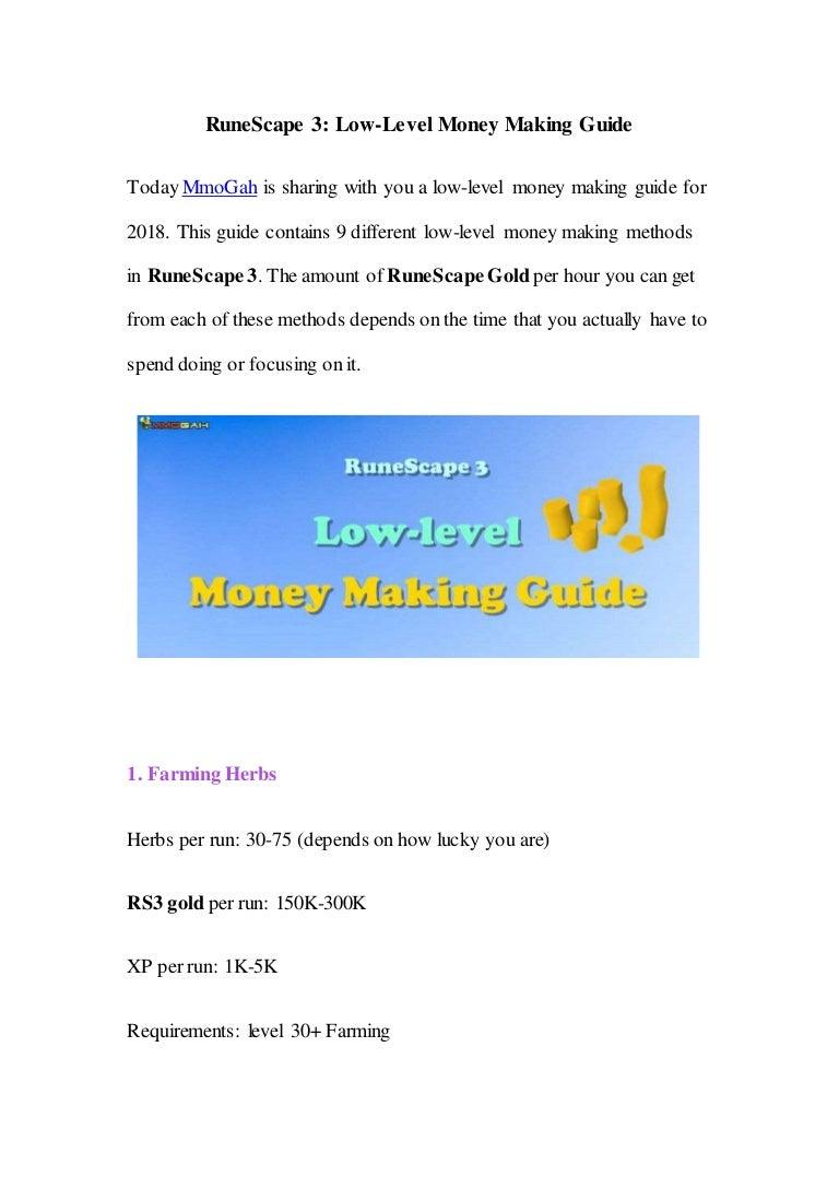 RuneScape 3: Low-Level Money Making Guide