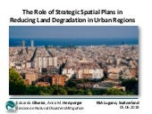 The Role of Strategic Plans in Reducing Land Degradation in European Urban Regions