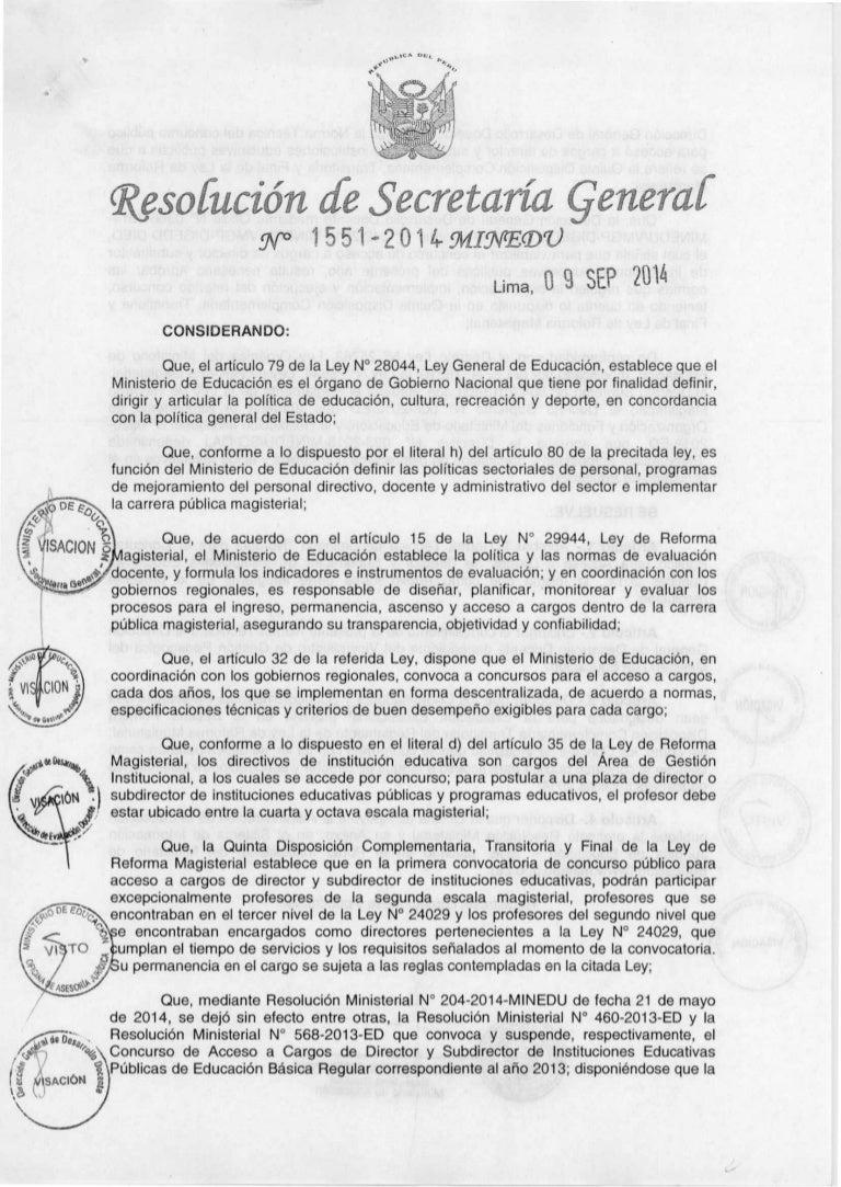 Normas Técnicas para el concurso de directivos 2014 aprobadas por …